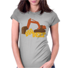 Dig Deep Gold Rush Womens Fitted T-Shirt