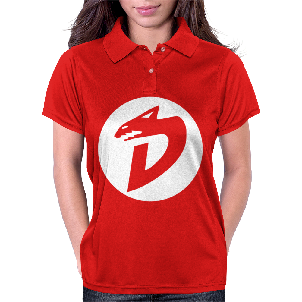 DinoSaucers 80s Cartoon Womens Polo