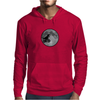 Dinosaur bike and moon Mens Hoodie