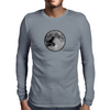 Dinosaur bike and moon Mens Long Sleeve T-Shirt
