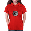 Dinosaur bike and moon Womens Polo