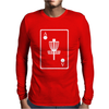 DISC GOLF ACE CARD TARGET CHAINS FRISBEE BASKET Mens Long Sleeve T-Shirt