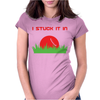 DISC GOLF DIRTY SEX JOKE PUN GROUND PENETRATION Womens Fitted T-Shirt