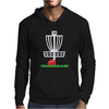 DISC GOLF FRISBEE LEANING ON TARGET BASKET INNOVA Mens Hoodie