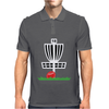 DISC GOLF FRISBEE LEANING ON TARGET BASKET INNOVA Mens Polo