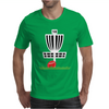DISC GOLF FRISBEE LEANING ON TARGET BASKET INNOVA Mens T-Shirt