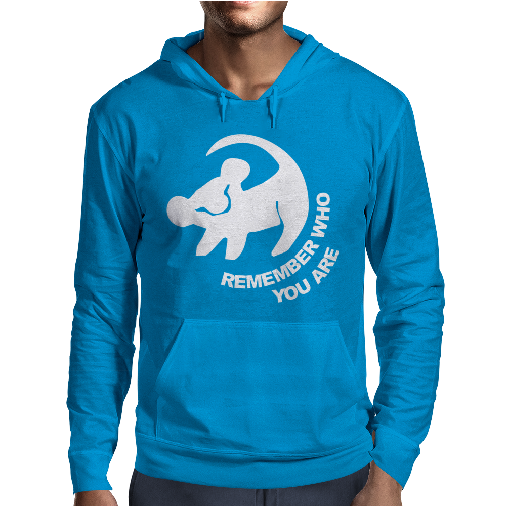 Disney Lion King Remember Who You Are Mens Hoodie