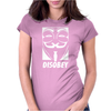 Disobey Anonymous anon vendetta Womens Fitted T-Shirt