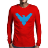 Distressed Nightwing Mens Long Sleeve T-Shirt