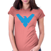 Distressed Nightwing Womens Fitted T-Shirt