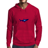 diver and shark Mens Hoodie
