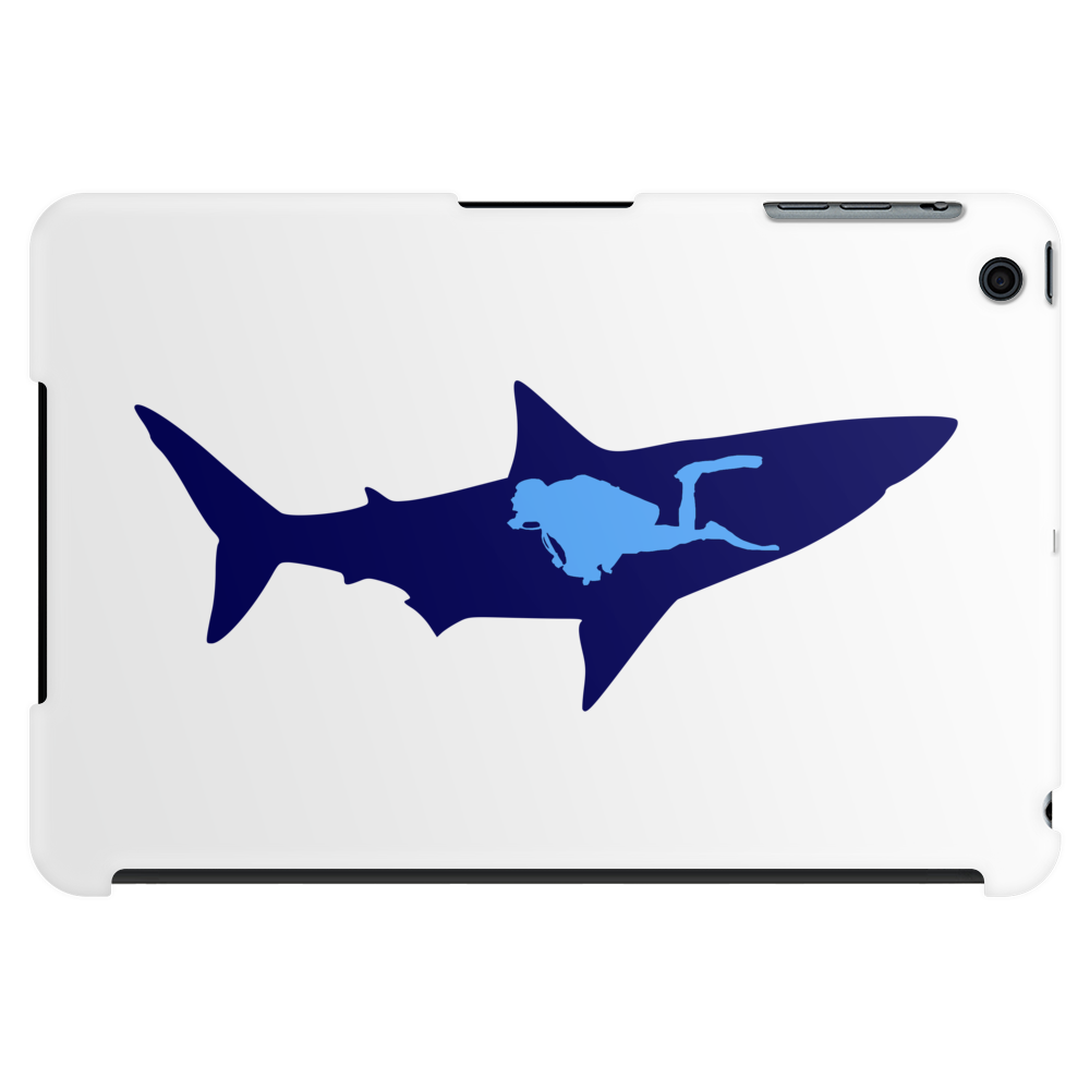 diver and shark Tablet (horizontal)