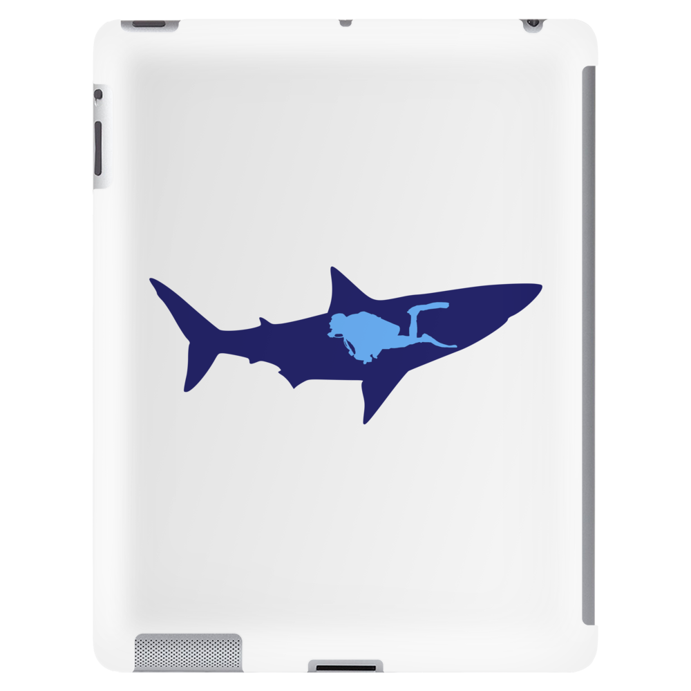 diver and shark Tablet (vertical)