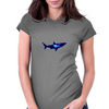 diver and shark Womens Fitted T-Shirt