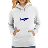 diver and shark Womens Hoodie