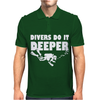 Divers Do It Deeper Scuba Diving Mens Polo