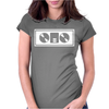 DJ TURNTABLES club Womens Fitted T-Shirt