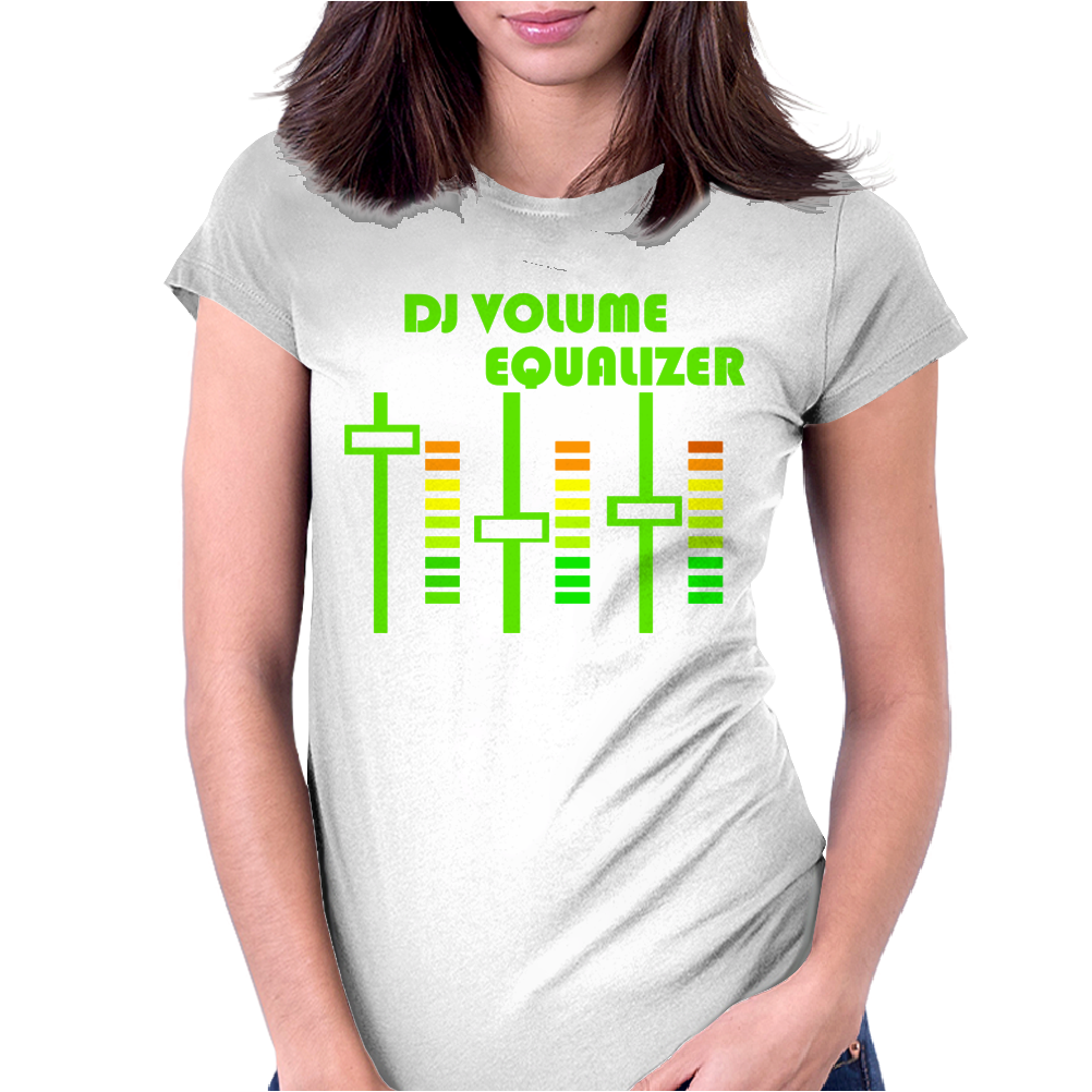 dj volume,funny Womens Fitted T-Shirt