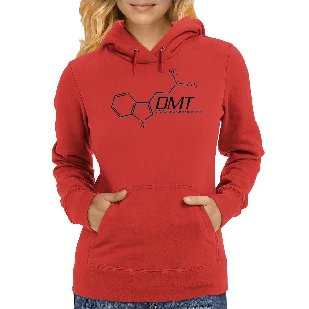DMT Molecule Black/White - N,n-Dimethyltryptamine Womens Hoodie