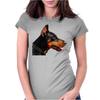 Doberman Dog Animal Pet Womens Fitted T-Shirt