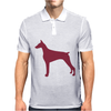 Doberman Pinscher Silhouette Mens Polo