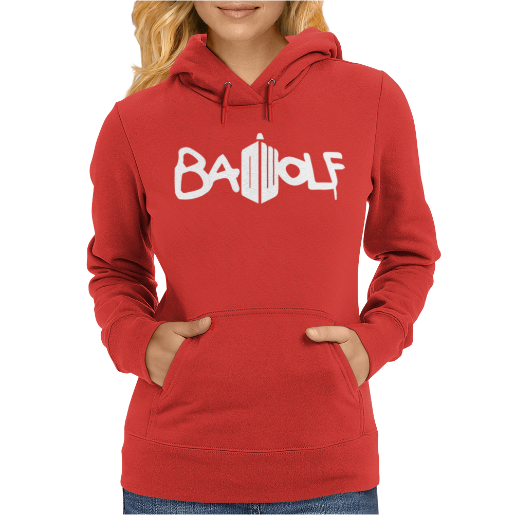 Doctor Who Bad Wolf Logo Womens Hoodie