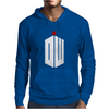 Doctor Who Logo with Fez Dark Gray Mens Hoodie