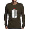 Doctor Who Logo with Fez Dark Gray Mens Long Sleeve T-Shirt