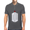 Doctor Who Logo with Fez Dark Gray Mens Polo