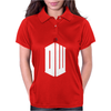 Doctor Who Logo with Fez Dark Gray Womens Polo