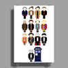 Doctor Who pixel regenerations Poster Print (Portrait)