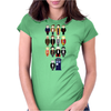 Doctor Who pixel regenerations Womens Fitted T-Shirt