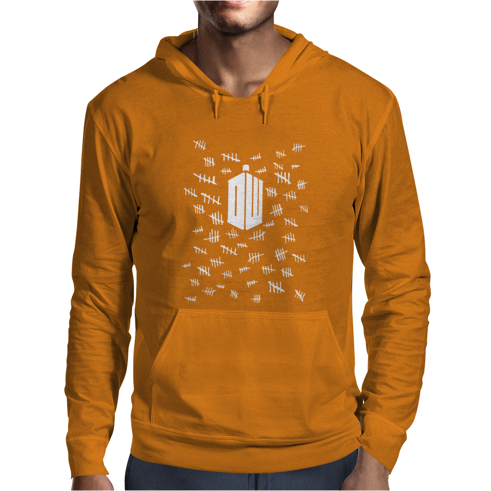 Doctor Who Tally Marks Mens Hoodie