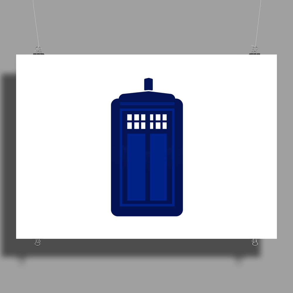 Doctor Who The Tardis. Poster Print (Landscape)