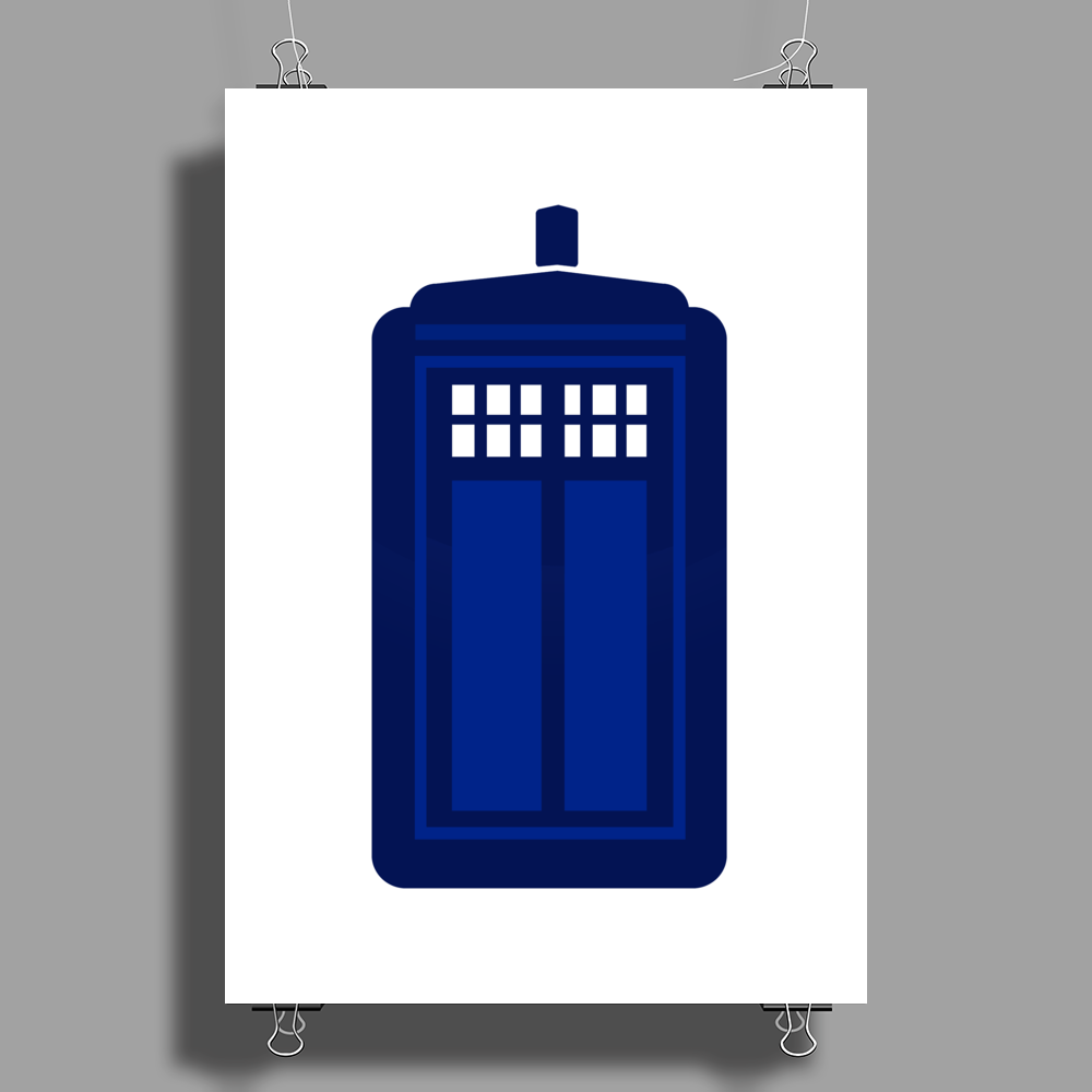 Doctor Who The Tardis. Poster Print (Portrait)