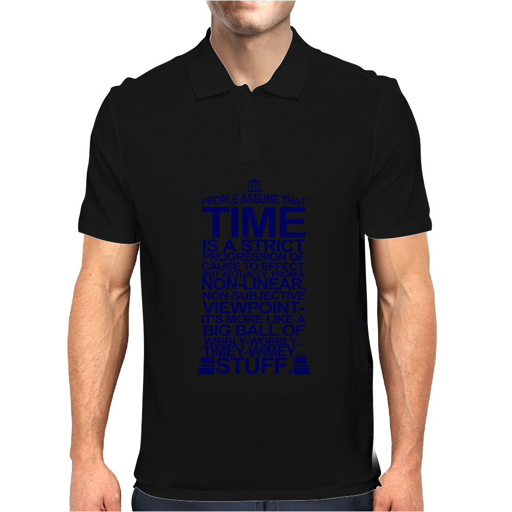 DOCTOR WHO TYPOGRAPHY Mens Polo