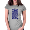 DOCTOR WHO TYPOGRAPHY Womens Fitted T-Shirt