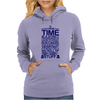 DOCTOR WHO TYPOGRAPHY Womens Hoodie