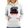 Dodge Red Viper ( Snake ) Womens Hoodie
