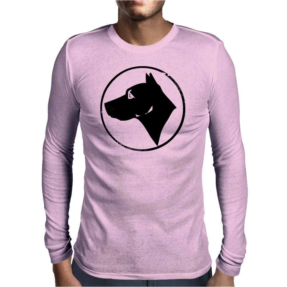 Dog Head Mens Long Sleeve T-Shirt