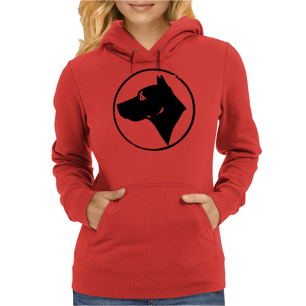 Dog Head Womens Hoodie