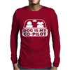 Dog is My Copilot Mens Long Sleeve T-Shirt