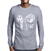 Dog Paw Human Fist Mens Long Sleeve T-Shirt