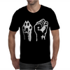 Dog Paw Human Fist Mens T-Shirt