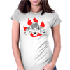 Dogs of War skull Womens Fitted T-Shirt
