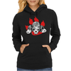 Dogs of War skull Womens Hoodie