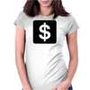 Dollar Sign Womens Fitted T-Shirt