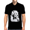 Dolly Parton Distressed Photo Mens Polo