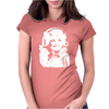 Dolly Parton Distressed Photo Womens Fitted T-Shirt