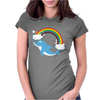 DOLPHIN RAINBOW Womens Fitted T-Shirt